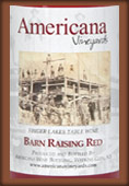 Americana Vineyards Barn Rasin' Red